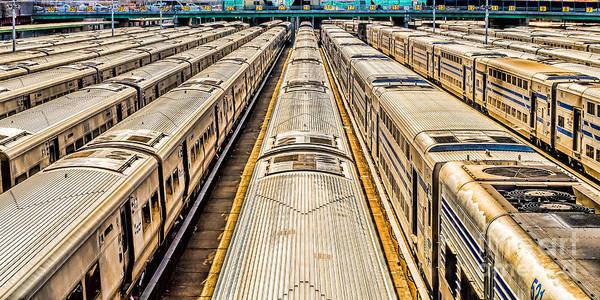 Penn Station Train Yard Poster