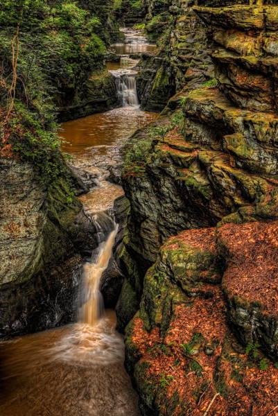 Pewits Nest Three Waterfalls Poster