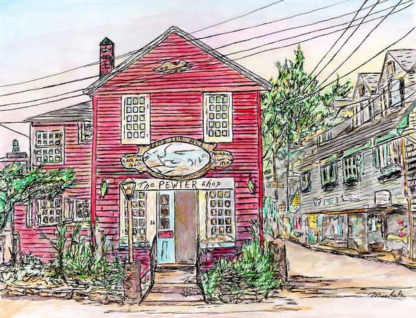 Pewter Shop, Rockport Massachusetts Poster