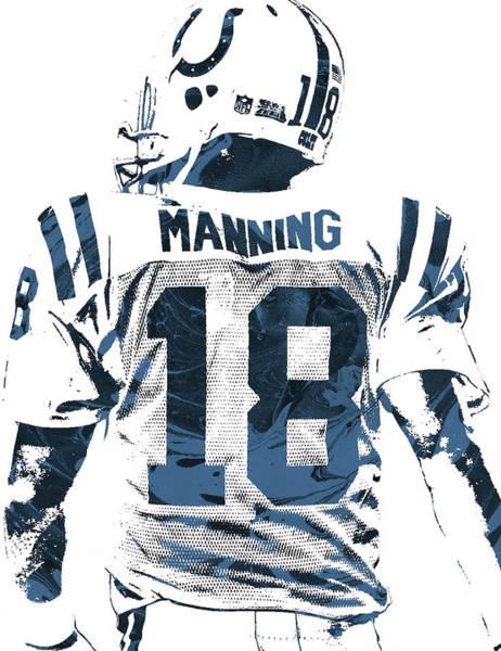 Peyton Manning Indianapolis Colts Pixel Art Poster