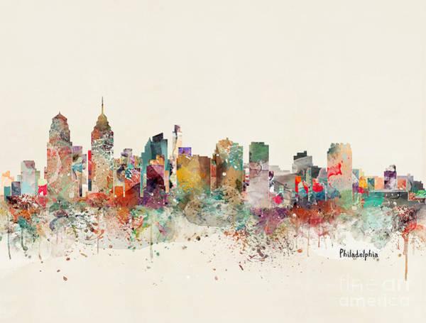Philadelphia City Skyline Poster