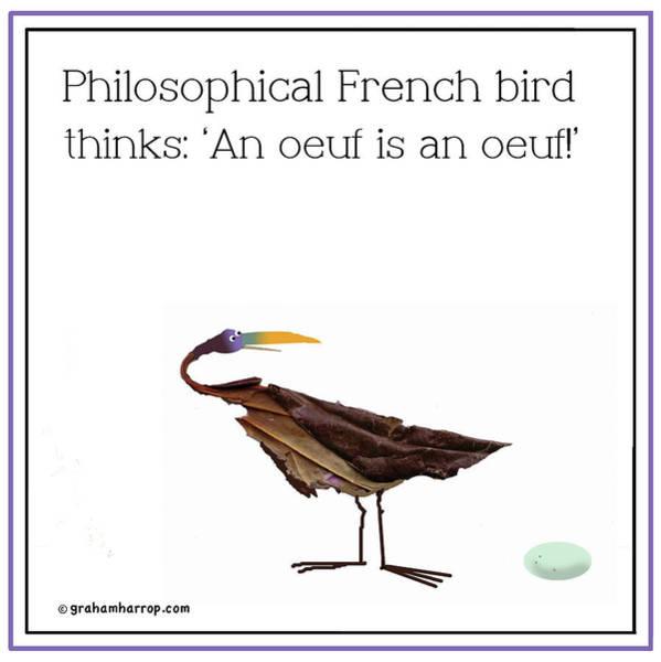 Philosophical Bird Poster