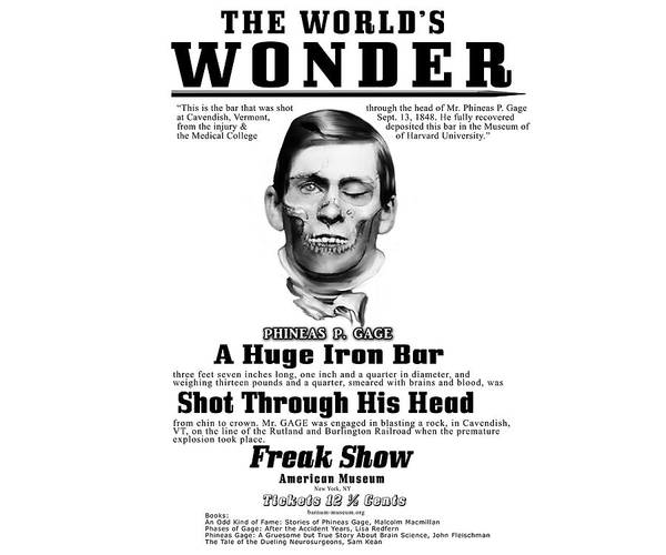 Phineas Gage World's Wonder Poster