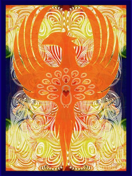 Phonix Rising Abstract Healing Art By Omashte Poster