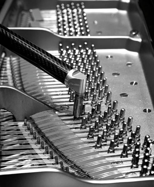 Piano Tuning Bw Poster