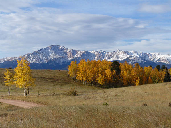 Pikes Peak In The Fall Poster