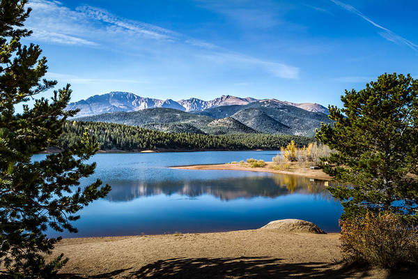 Pikes Peak Over Crystal Lake Poster