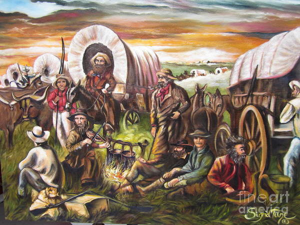 American    History  Pilgrims On The Plain Poster