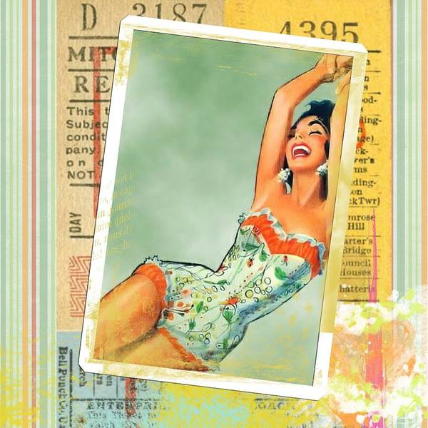 Pin Up Girl Square Poster