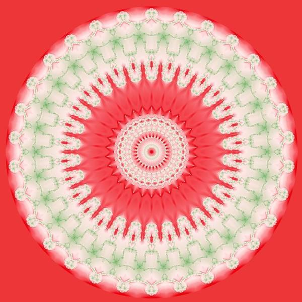 Pink And Green Mandala Fractal 001 Poster