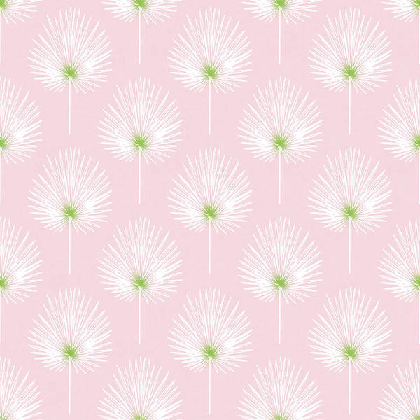 Pink And White Palm Leaves- Art By Linda Woods Poster