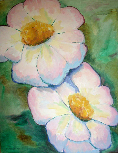 Pink Disc Flowers Poster