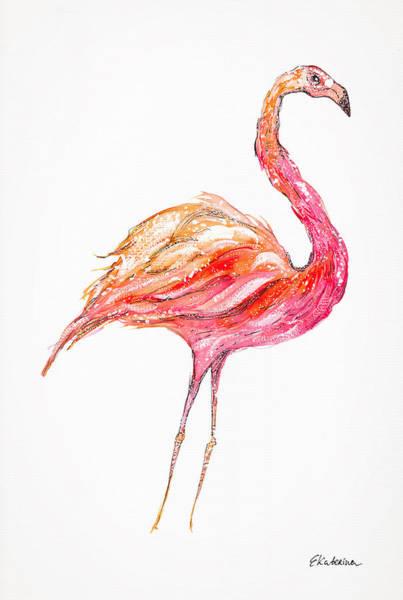 Pink Flamingo Bird Poster