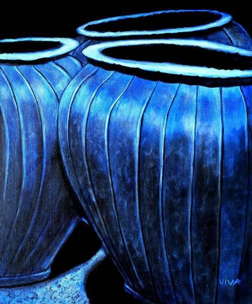 Pinstripe Pots Poster