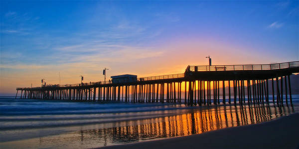Pismo Beach And Pier Sunset Poster