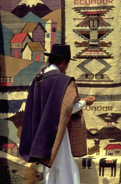 Poster featuring the photograph Plaza De Ponchos by Travel Pics
