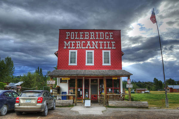 Poster featuring the photograph Polebridge Mercantile by Darlene Bushue