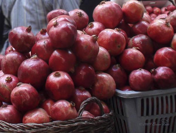 Pomegranates At Jerusalem's Old City Market Poster