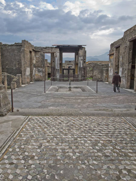 Pompeii View With Mosaic Poster