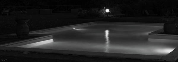 Pool At Night 2 Poster