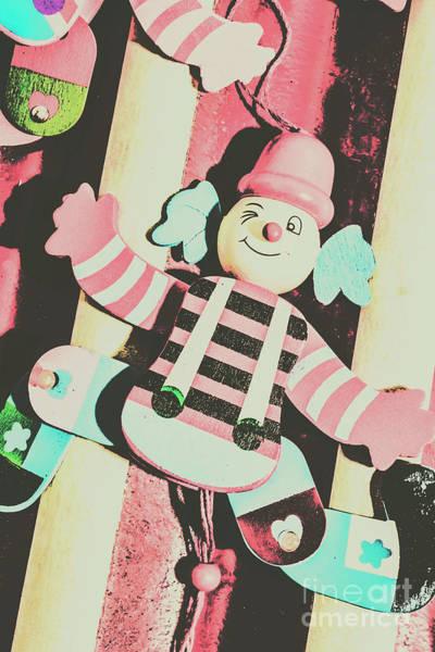 Pop Up Clown Art Poster