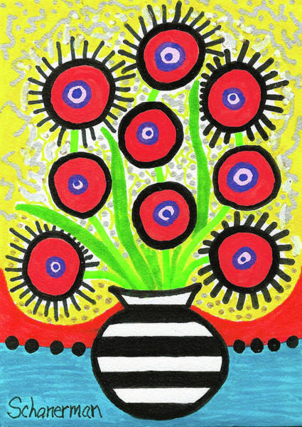 Poppin' Red Poppies Poster