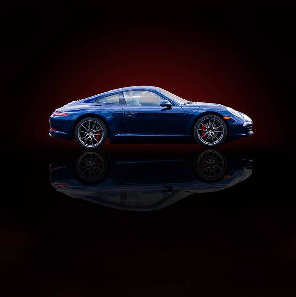 Porsche 911 Carrera - Blue Poster