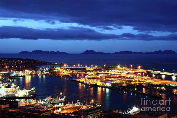 Port Of Vigo At Twilight Galicia Spain Poster
