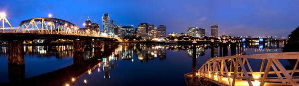 Portland Oregon Skyline Poster