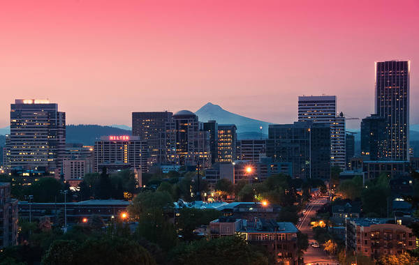 Portland Sunrise Poster