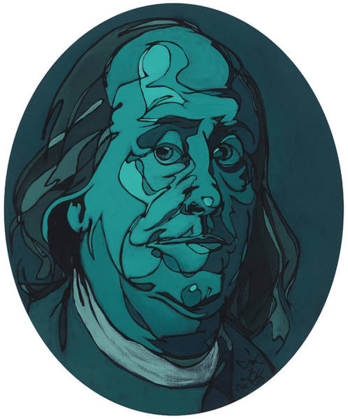 Portrait Of Benjamin Franklin Poster