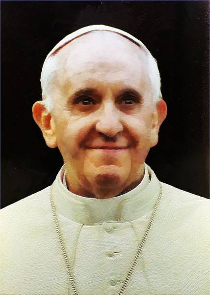 Portrait Of Pope Francis I Poster