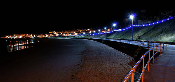 Portrush Seafront At Night Poster