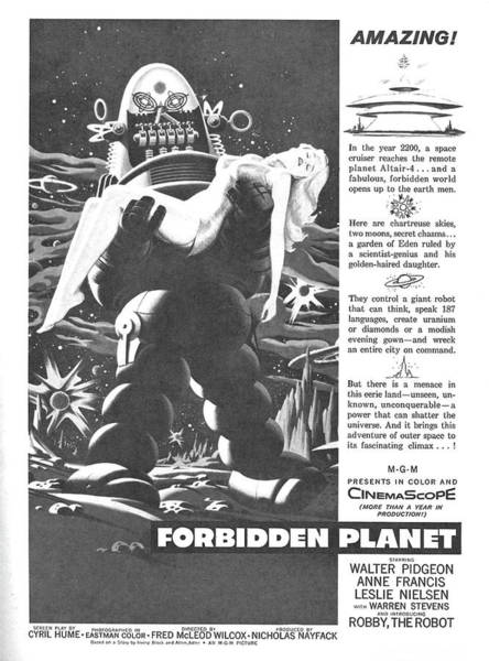 Poster Movie Forbidden Planet Poster