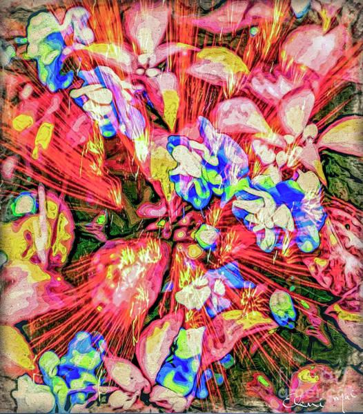 Poster featuring the digital art Pot Pourri by Eleni Mac Synodinos
