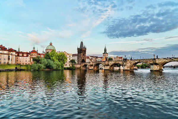 Prague From The River Poster