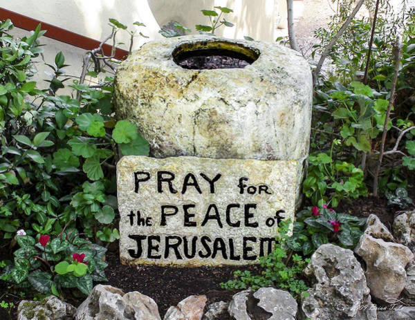 Pray For The Peace Of Jerusalem Poster