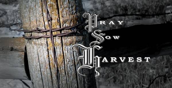Pray Sow Harvest Poster