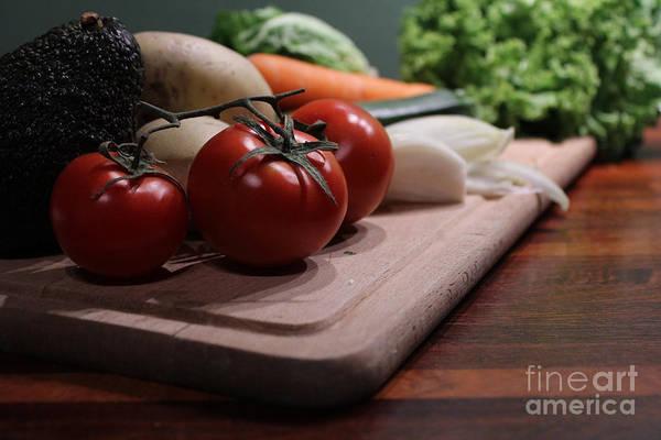 Preparing Vegetables For Cooking Food Poster