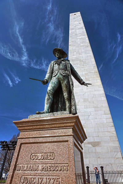 Poster featuring the photograph Prescott Statue On Bunker Hill by Wayne Marshall Chase