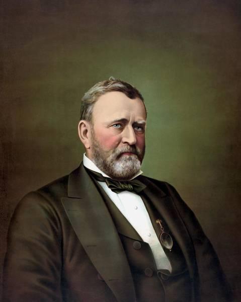 President Ulysses S Grant Portrait Poster