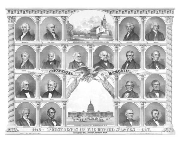 Presidents Of The United States 1776-1876 Poster