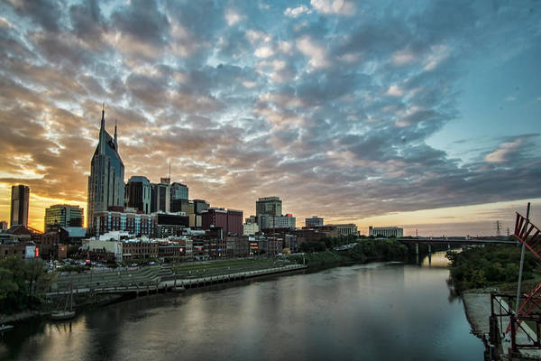 Pretty Sky And Nashville Skyline Poster