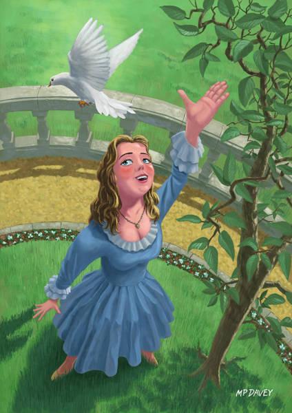 Princess Releasing Bird Poster