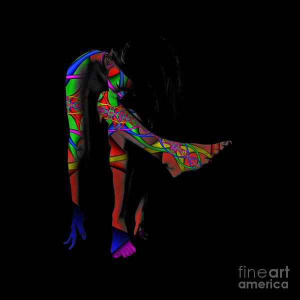 Projected Body Paint 2094973a Poster