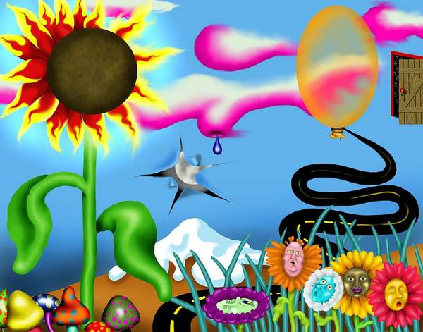 Psychedelic Dreamscape I Poster