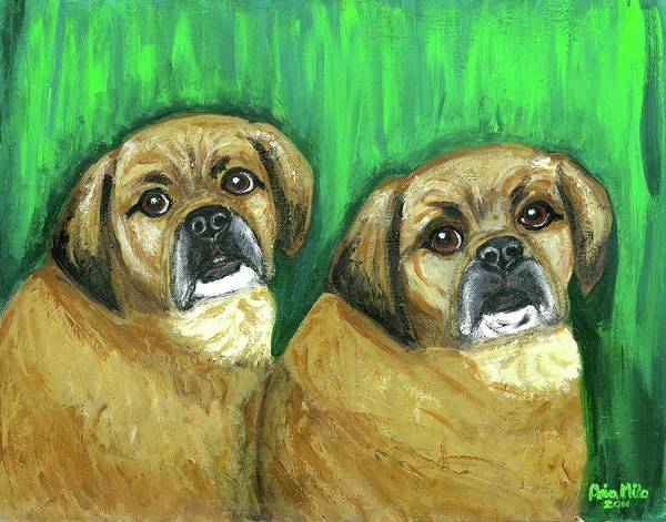 Puggles Bruno And Louie Poster