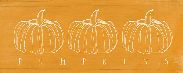 Pumpkins- Art By Linda Woods Poster
