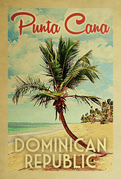 Punta Cana Dominican Republic Palm Tree Poster