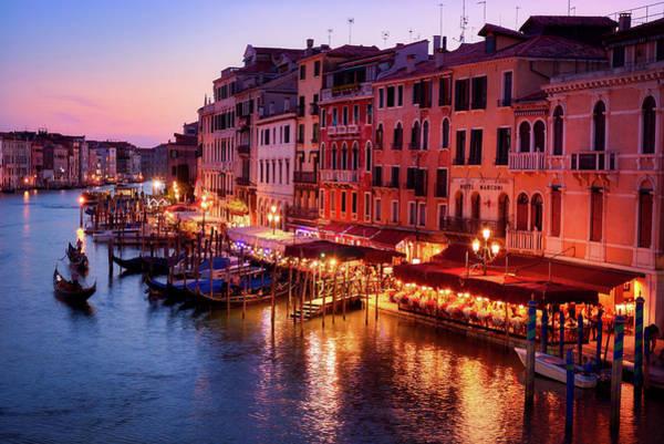 Cityscape From The Rialto In Venice, Italy Poster